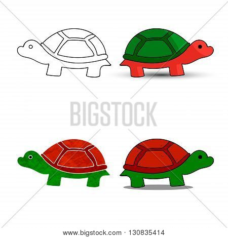 Sea turtle symbol for download. Vector icons for video mobile apps Web sites and print projects.