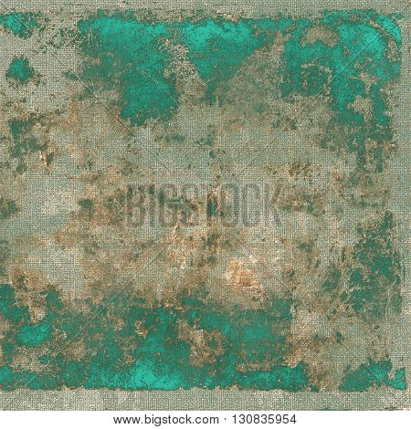 Grunge scratched background, abstract vintage style texture with different color patterns: yellow (beige); brown; green; blue; gray