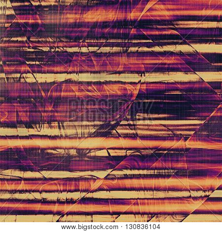 Weathered grunge elements on vintage texture for your design. Aged background with different color patterns: yellow (beige); brown; blue; red (orange); purple (violet); pink