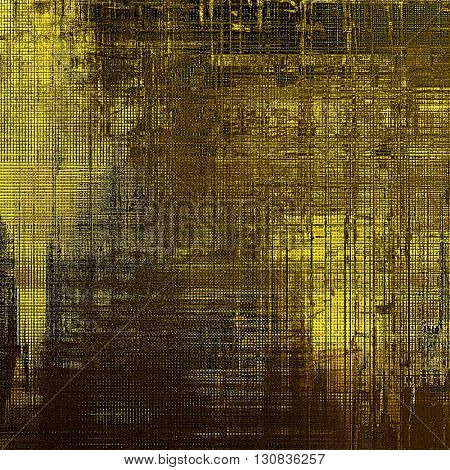 Grunge texture, scratched surface or vintage background. With different color patterns: yellow (beige); brown; gray; black