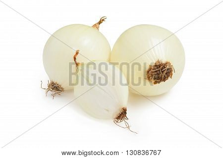 Onion. Fresh onions isolated on a white background.