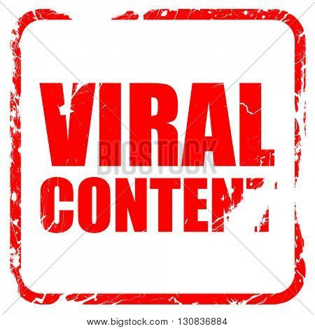 viral content, red rubber stamp with grunge edges