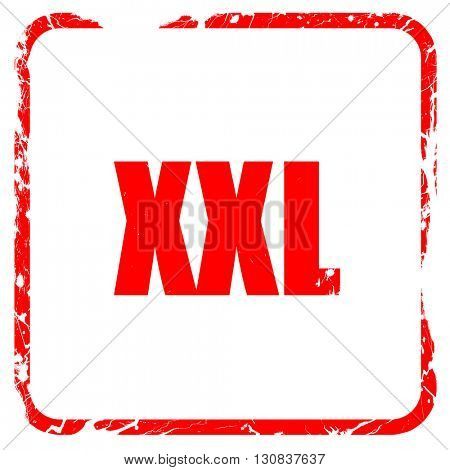 xxl sign background, red rubber stamp with grunge edges