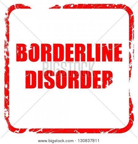 Borderline sign background, red rubber stamp with grunge edges