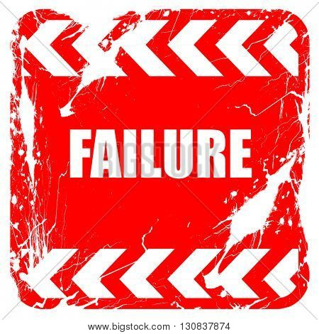 Failure sign with some smooth lines, red rubber stamp with grung