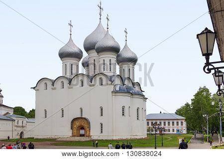 Vologda, Russia - May24: This is the ancient St. Sophia Cathedral May 24, 2013 in Vologda, Russia.