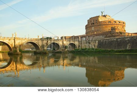 Sant'Angelo Bridge and Castel Sant'Angelo in Rome