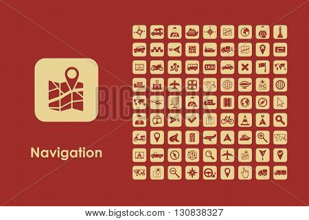 It is a set of navigation simple web icons