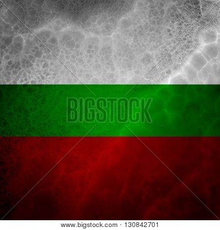 Flag of Bulgaria. Amazing stone texture with multicolor stripes.