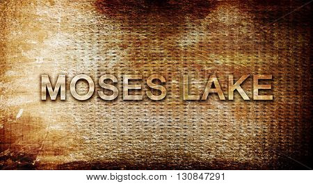 moses lake, 3D rendering, text on a metal background