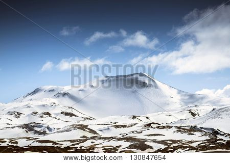 Large amazing mouintains of Iceland scenic shot