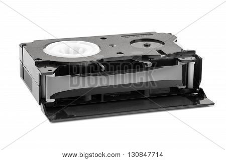 VHS-C video cassette isolated on white background with clipping path