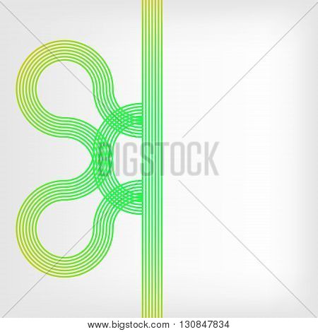 abstract vector background with stripes pattern - green and yellow