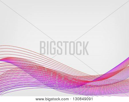 abstract vector waved line background - purple and magenta