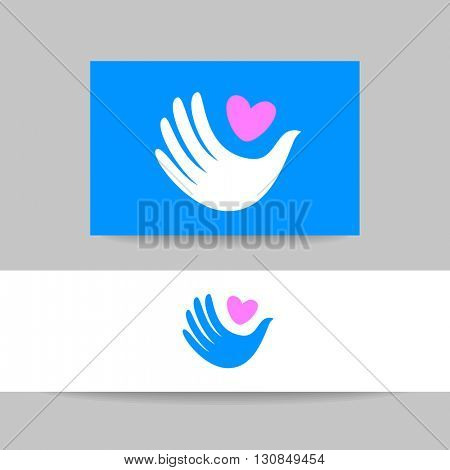 Dove logo - design template. White dove - peace symbol.