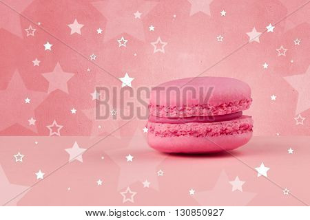 Close up of a delicious colorful cake with star shapes on background