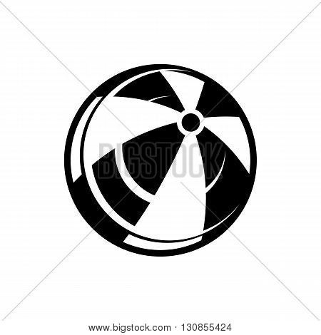 Beach ball icon in simple style isolated on white background. Stay and play symbol