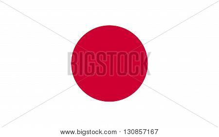 Japan flag image for any design in simple style