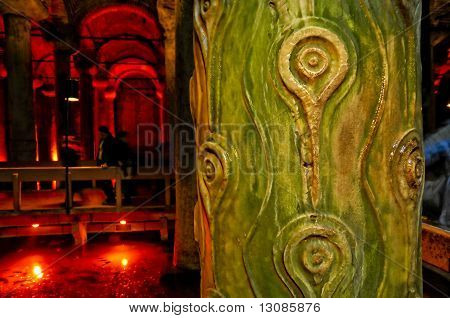 Detail From Yerebatan Cistern ,Istanbul ,Turkey