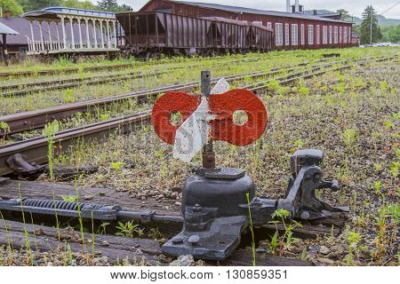 Switch In Railroad Yard