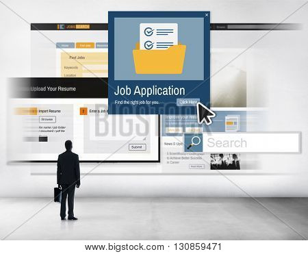 Job Application Apply Hiring Human Resources Concept