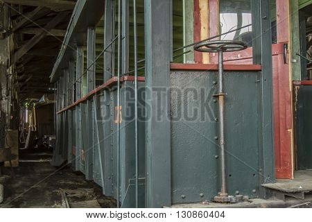 Hand Brake On Railroad Car