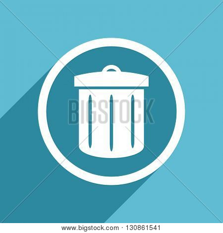 recycle icon, flat design blue icon, web and mobile app design illustration