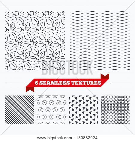 Diagonal lines, waves and geometry design. Leaves lines texture. Stripped geometric seamless pattern. Modern repeating stylish texture. Material patterns.