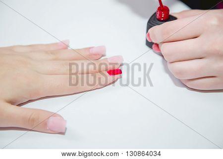 Manicure In A Beauty Salon, Master Class