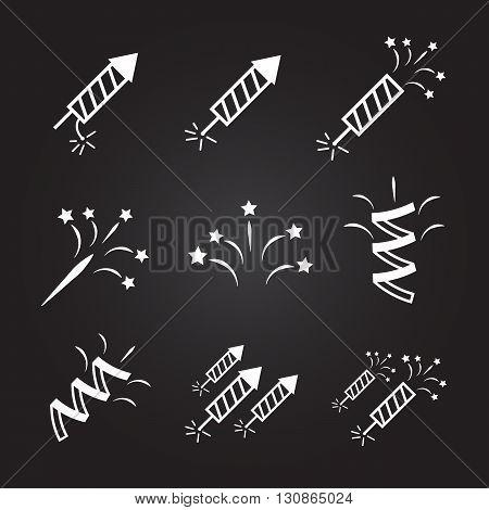 Firework set vector illustration. firework icons set eps10