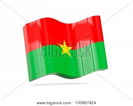 Wave Icon With Flag Of Burkina Faso