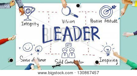 Leader Authority Boss Coach Director Manager Concept