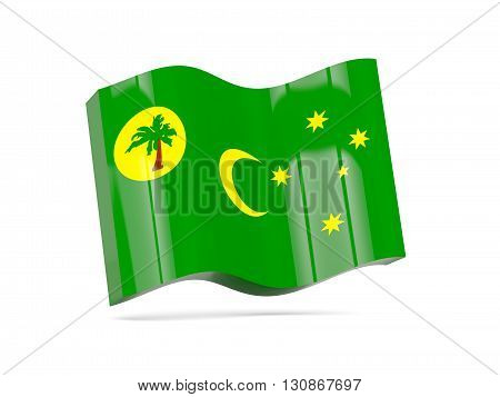 Wave Icon With Flag Of Cocos Islands