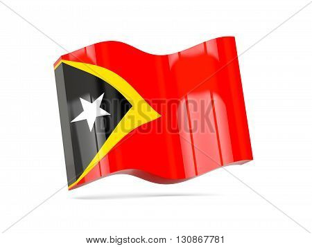 Wave Icon With Flag Of East Timor