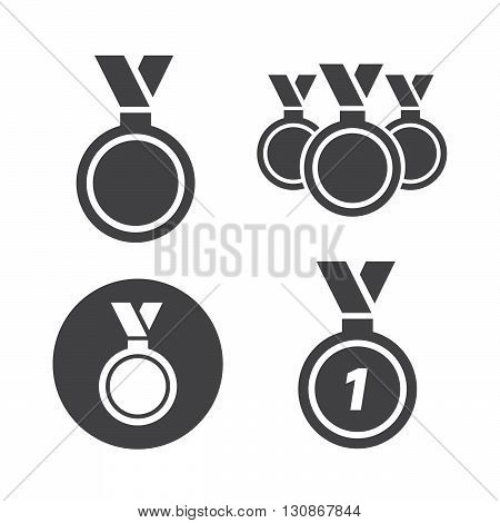 Medal icons set vector illustration. Medal black logo. Medal icons sign eps10