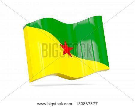 Wave Icon With Flag Of French Guiana