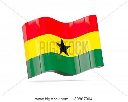Wave Icon With Flag Of Ghana