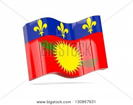 Wave Icon With Flag Of Guadeloupe