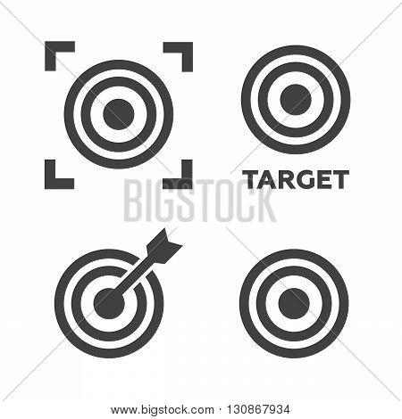 Target icons set vector illustration. Target black logo. Target icons sign eps10