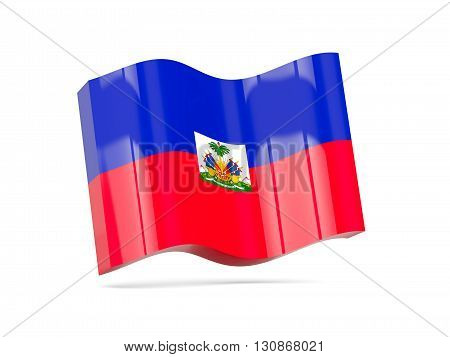 Wave Icon With Flag Of Haiti