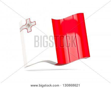 Wave Icon With Flag Of Malta