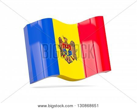 Wave Icon With Flag Of Moldova