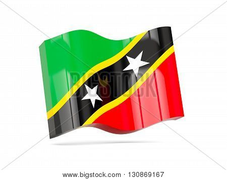 Wave Icon With Flag Of Saint Kitts And Nevis
