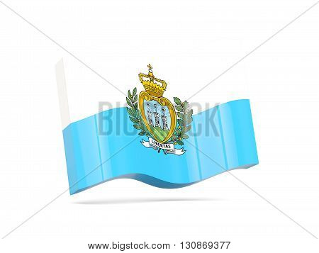 Wave Icon With Flag Of San Marino