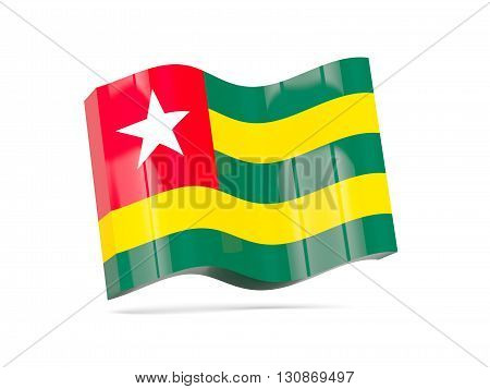 Wave Icon With Flag Of Togo