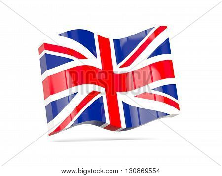 Wave Icon With Flag Of United Kingdom