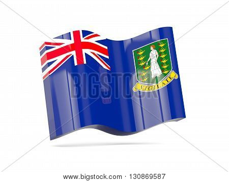 Wave Icon With Flag Of Virgin Islands British