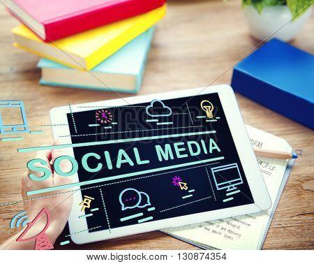 Social Media Communication Connection Internet Concept