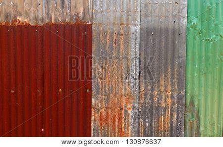 old rusty galvanized zinc. metal texture background