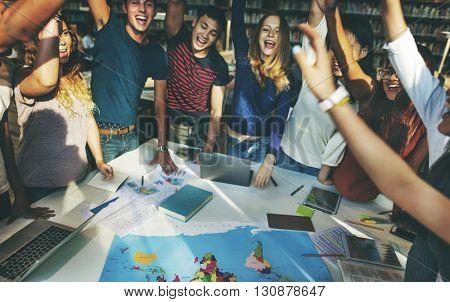 Classmate Celebrate Team Group Community Concept